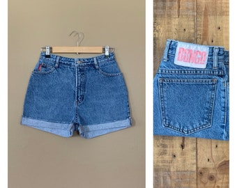 39 Inch Hips  Size 7  MOM JEAN SHORTS denim 90s Jordache vintage Woman Booty short Summer