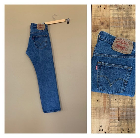 """31"""" Levis 501 Vintage Jeans High Waisted Straight"""