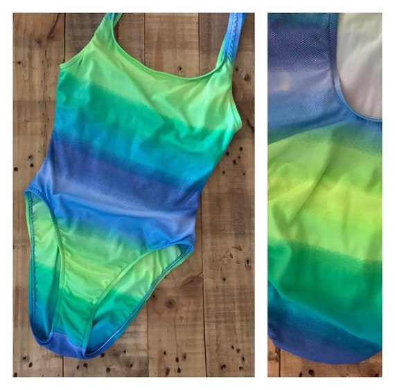 High Cut Swimsuit One Piece / 90s Swimsuit / 90s B