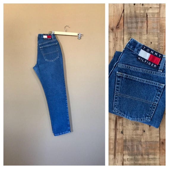 "27"" Tommy Hilfiger High Waisted Jeans / 90s Tommy"