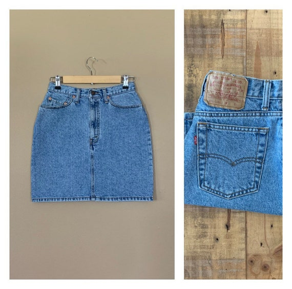 "27"" Levis Denim Skirt High Waisted / Levis Denim M"