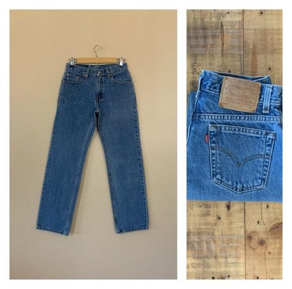 "28/29"" Levis High Waisted Jeans / Levis 555 Straig"