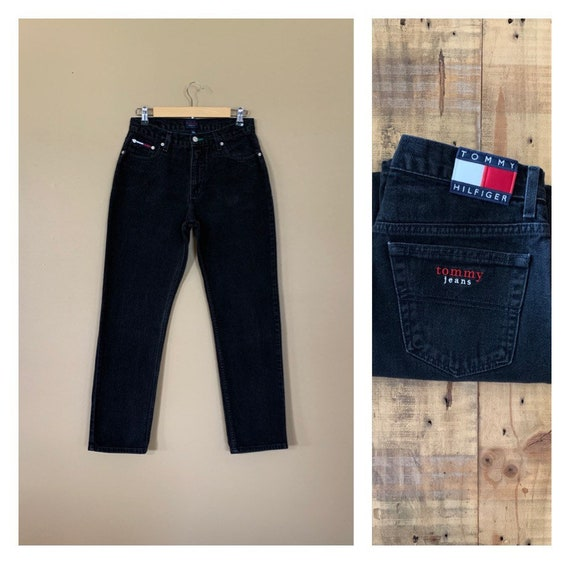 "29""/30"" Black Tommy Hilfiger Jeans High Waisted /"