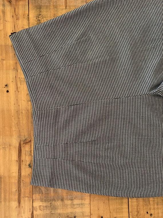 90's Large High Waisted Pants Plaid Tartan / Blac… - image 3