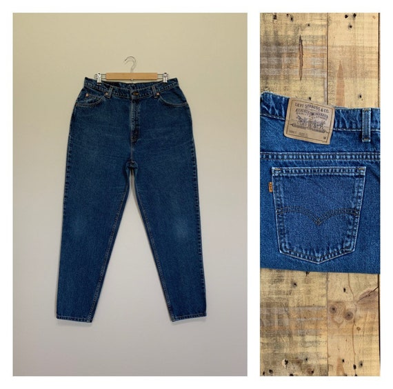 """35"""" Levis High Waisted Jeans Tapered Leg / Levis 9"""