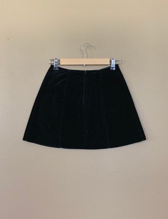"""25"""" Black Guess Skirt High Waisted / 90's Guess V… - image 4"""