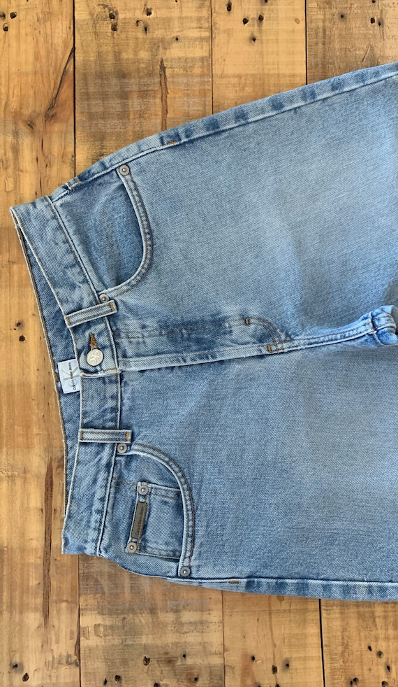 """28"""" Calvin Klein Jeans Button Fly High Waisted / … - image 3"""