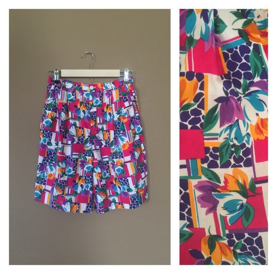 90s High Waisted Shorts / 90s Cotton Shorts / 90s