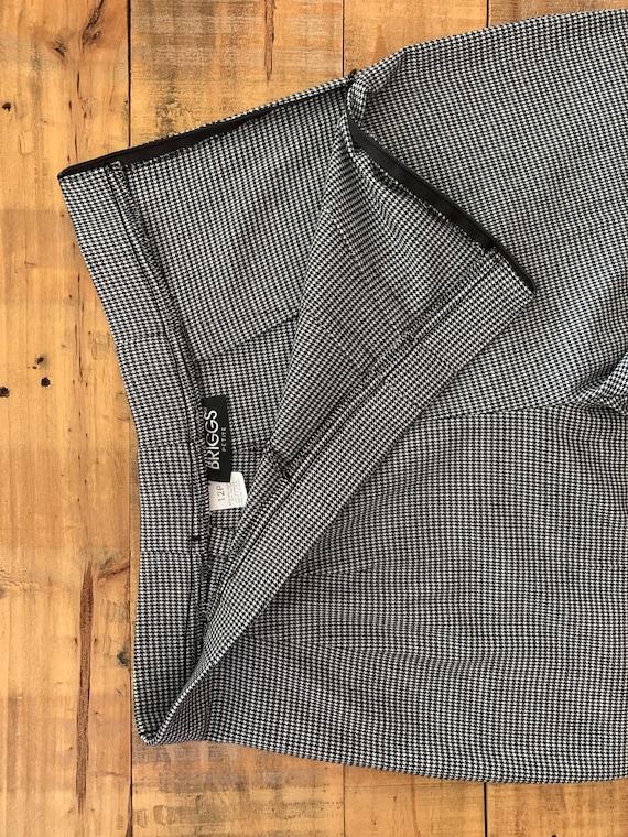 90's Large High Waisted Pants Plaid Tartan / Blac… - image 8