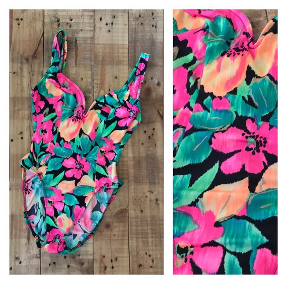 XSmall High Cut Swimsuit One Piece / 90s Swimsuit