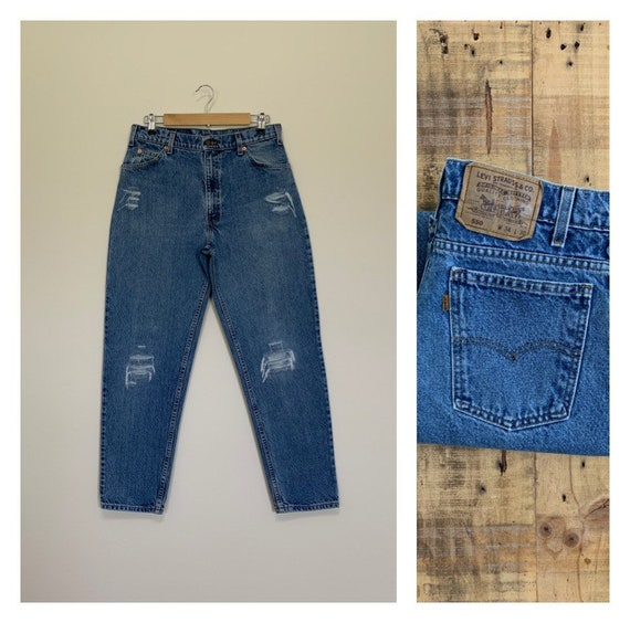 """33"""" Levis High Waisted Jeans Tapered / Levis 550 /"""