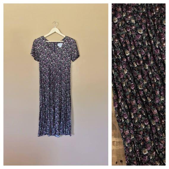 90s Floral Dress/90s babydoll Dress/ Vintage Flora