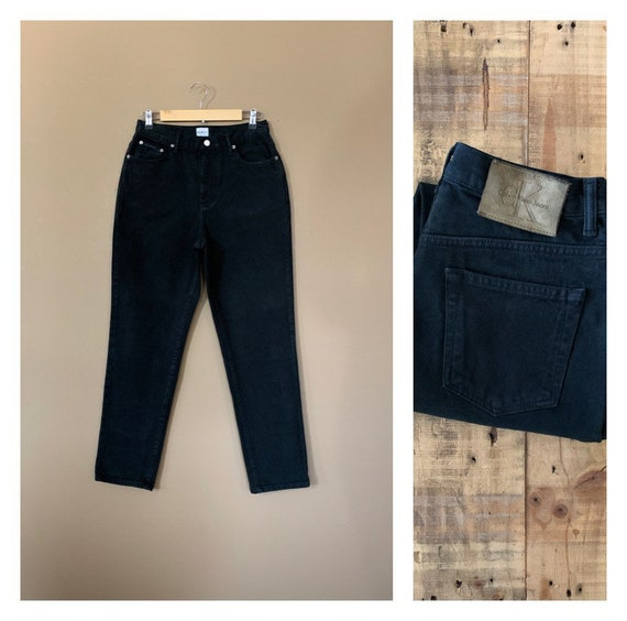 "30"" Black Calvin Klein Jeans High Waisted / 90's V"