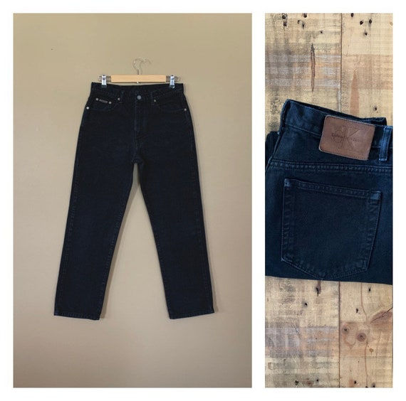 "31"" Black Calvin Klein Jeans High Waisted / 90's V"