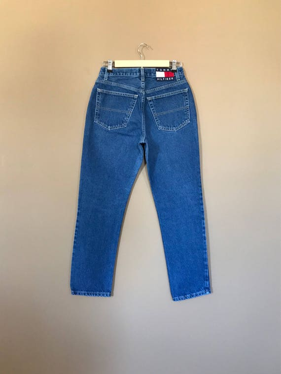 "27"" Tommy Hilfiger High Waisted Jeans / 90s Tommy… - image 4"