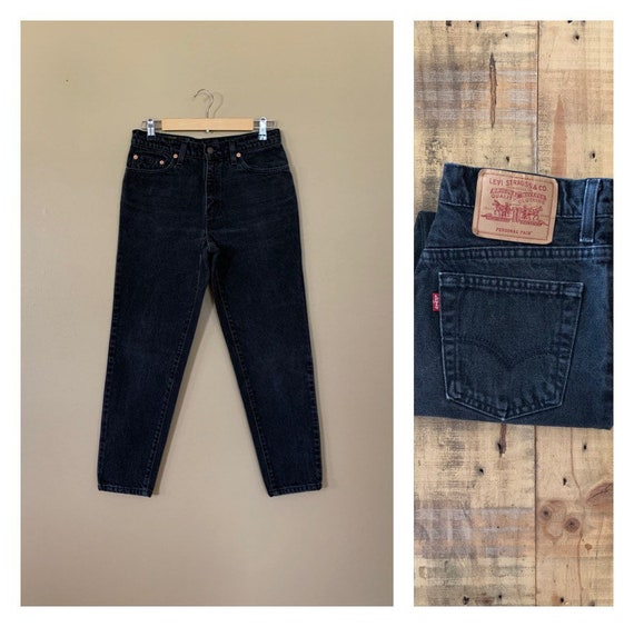 "30"" Black Levis High Waisted Jeans Tapered / Levis"