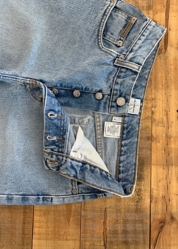 """28"""" Calvin Klein Jeans Button Fly High Waisted / … - image 10"""
