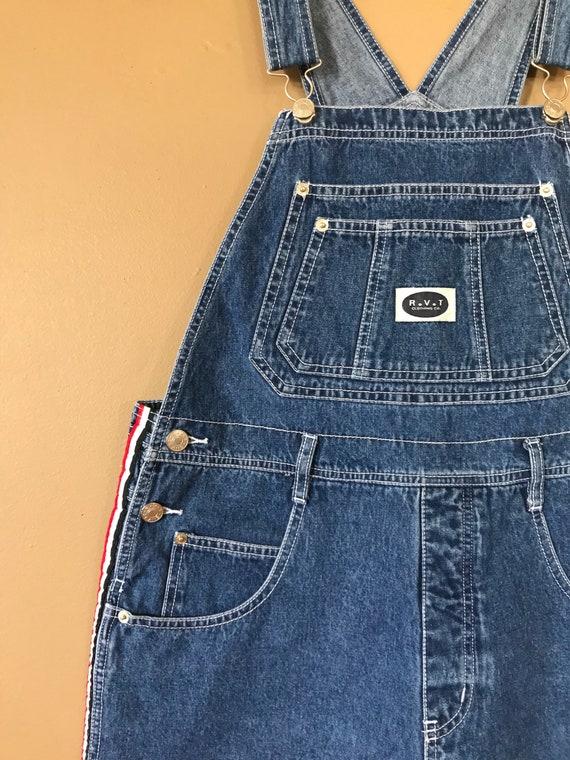 90s Denim Overall Shorts / Denim Overalls /90s Cl… - image 3