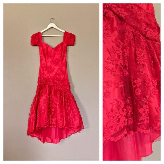 80s Prom Dress / 80s Party Dress / Prom Dress / 90