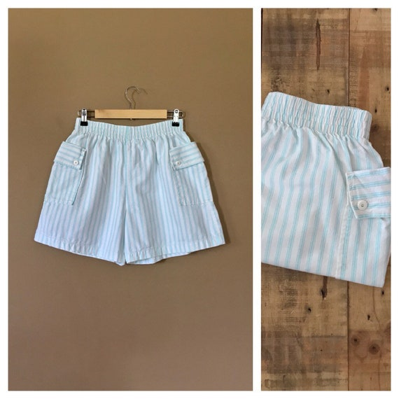 90s High Waisted Cotton Shorts/90s Clothing /90s S