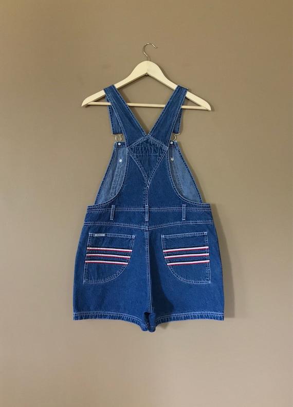 90s Denim Overall Shorts / Denim Overalls /90s Cl… - image 4