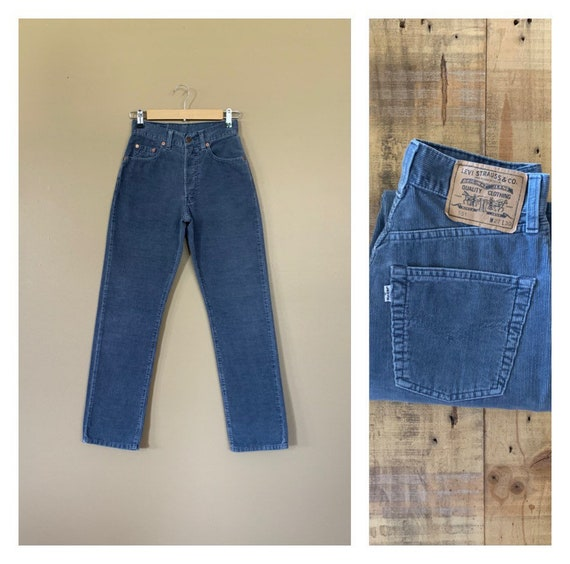 "26"" Levis Corduroy Pants Button Fly High Waisted /"
