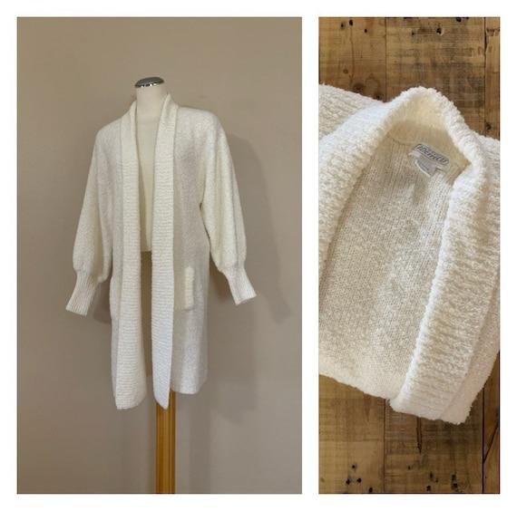 90's Oversized Sweater Cardigan Medium / Vintage K