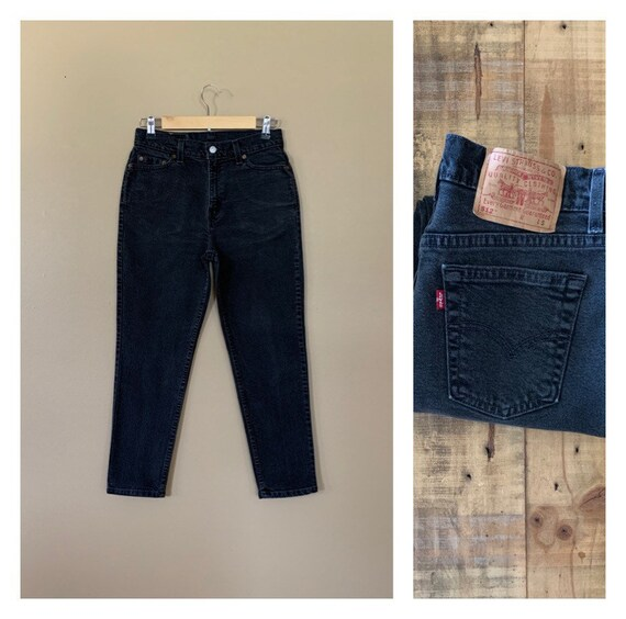 """29""""~31"""" Levis 512 Black High Waisted Jeans / 90s B"""