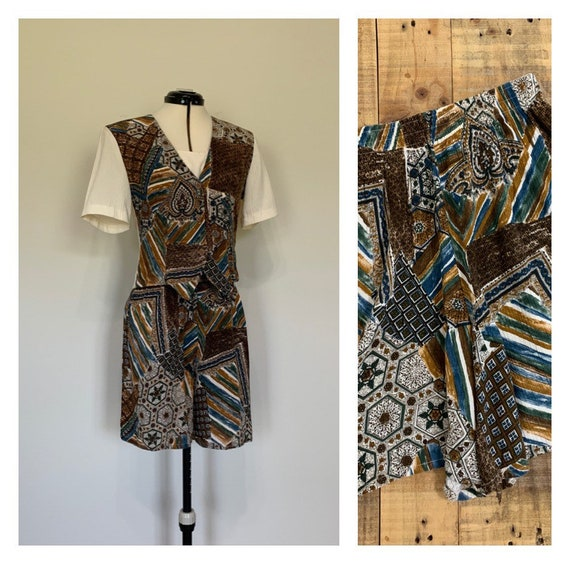 90's Two Piece Shorts Outfit High Waisted Short an