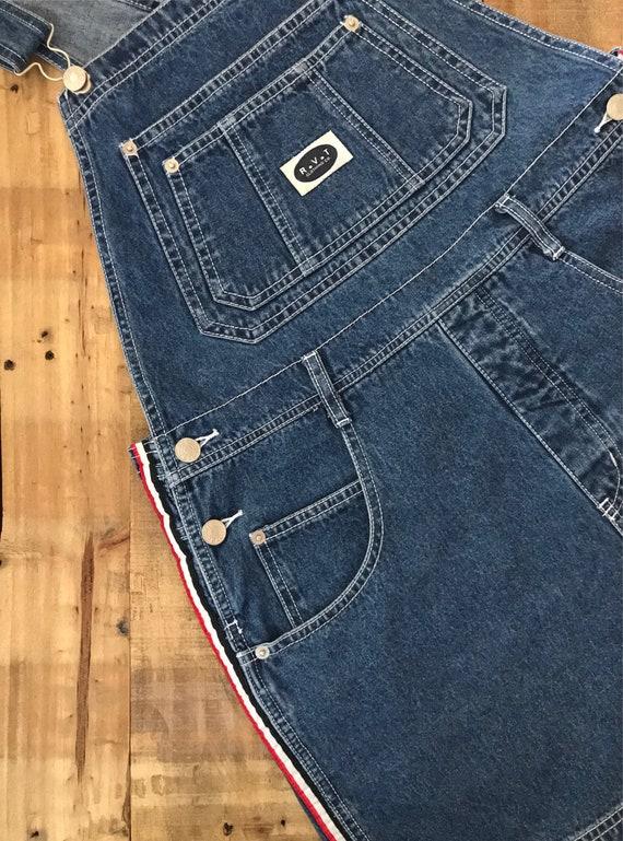 90s Denim Overall Shorts / Denim Overalls /90s Cl… - image 7