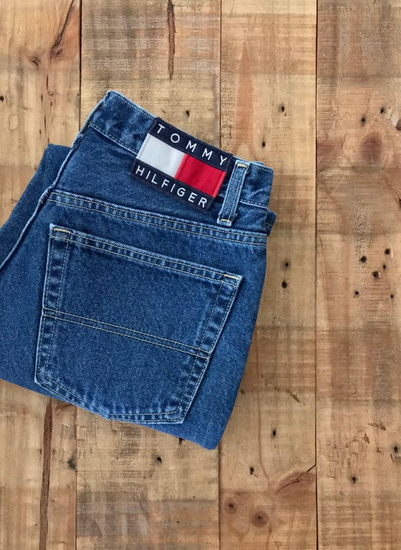 "27"" Tommy Hilfiger High Waisted Jeans / 90s Tommy… - image 8"