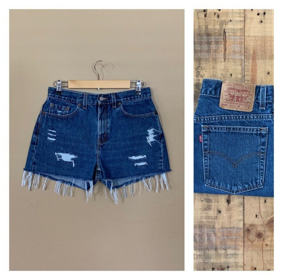 "31"" Levis High Waisted Shorts Denim / Levis High R"