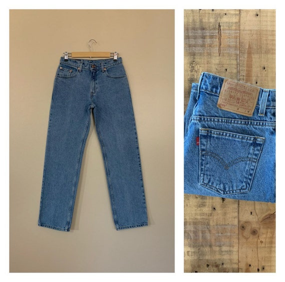 "29/30"" Levis High Waisted Jeans / Levis 555 Straig"
