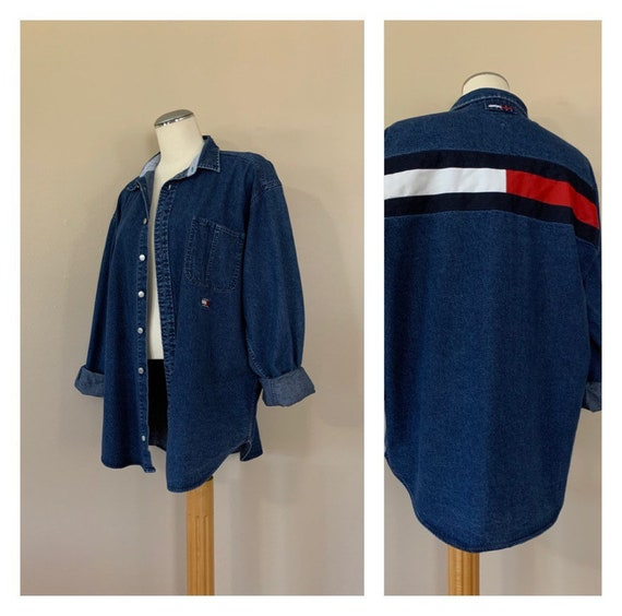90's Tommy Hilfiger Button Down Shirt XL / Oversiz
