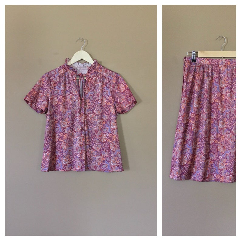 Two Piece Skirt Outfit 90s Outfit 90s Hip Hop Clothing 80s Etsy
