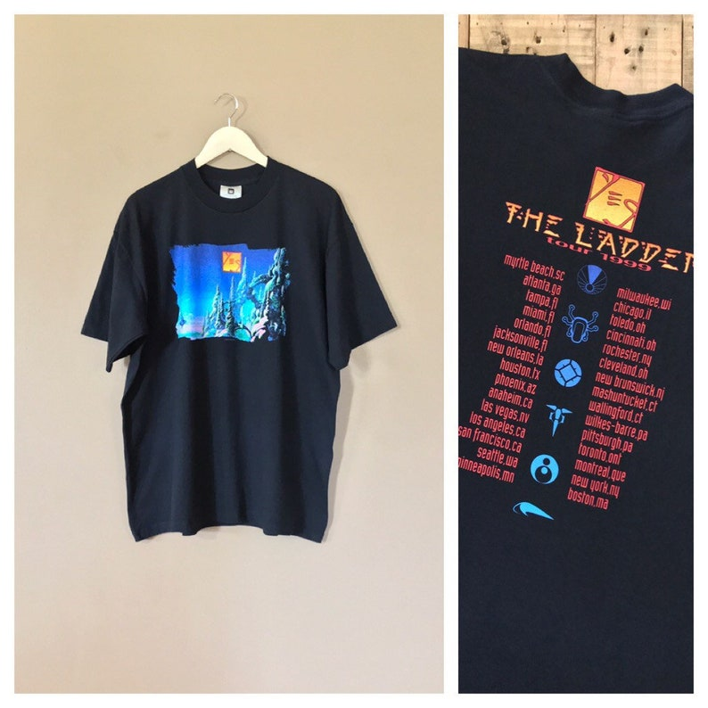 0a52391f Vintage Yes Band T-Shirt / 90s Band Tshirt / Band Tee / Band | Etsy