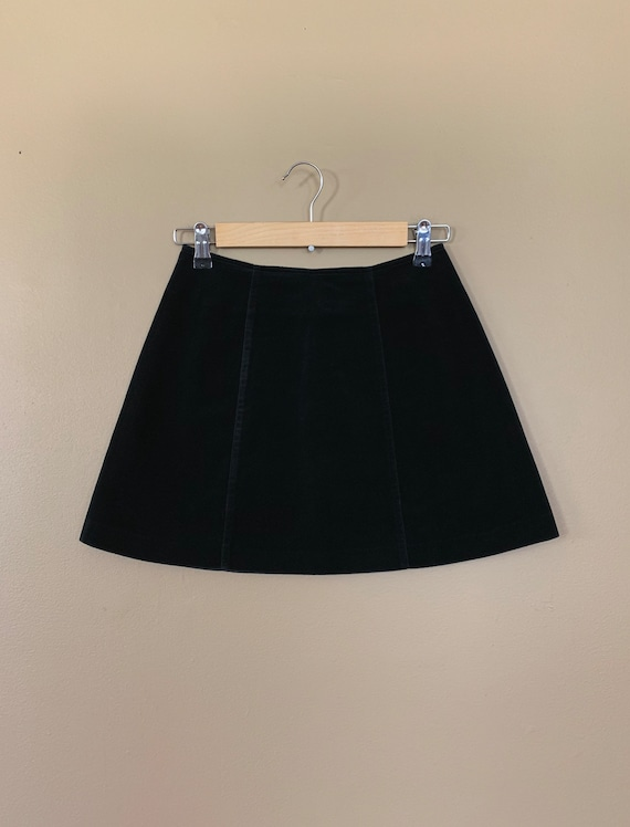 """25"""" Black Guess Skirt High Waisted / 90's Guess V… - image 2"""