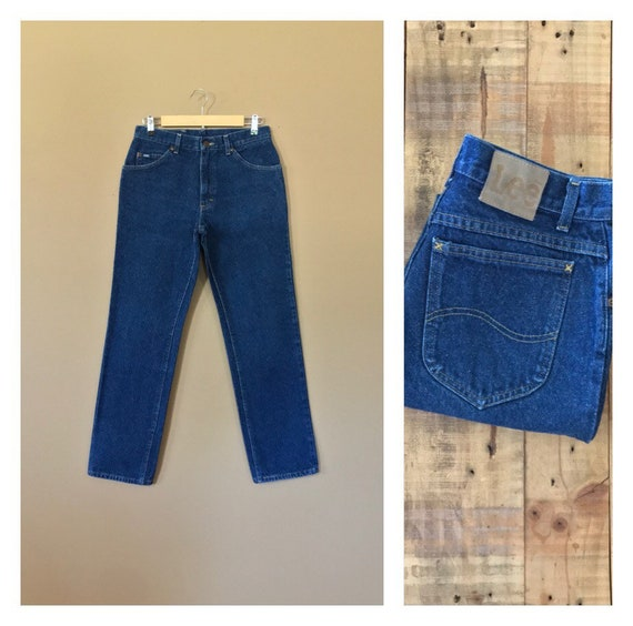 "30"" Lee High Waisted Jeans Women/90s Lee Jeans/Vin"