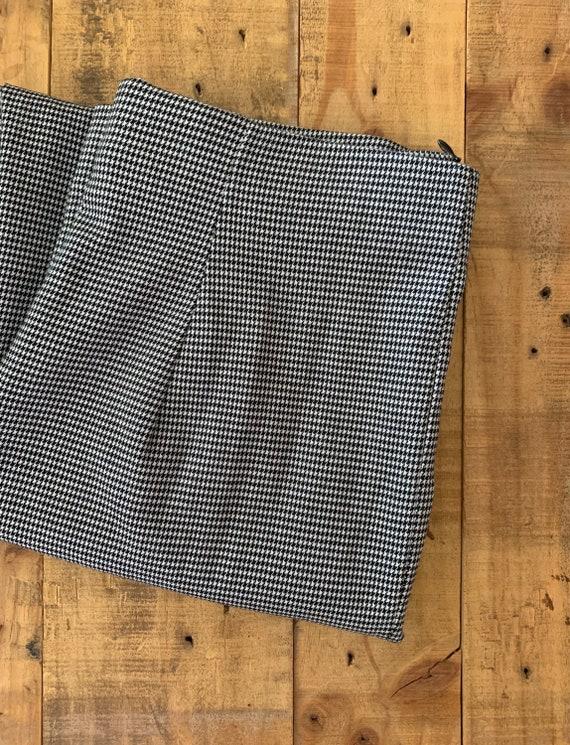 90's Large High Waisted Pants Plaid Tartan / Blac… - image 7
