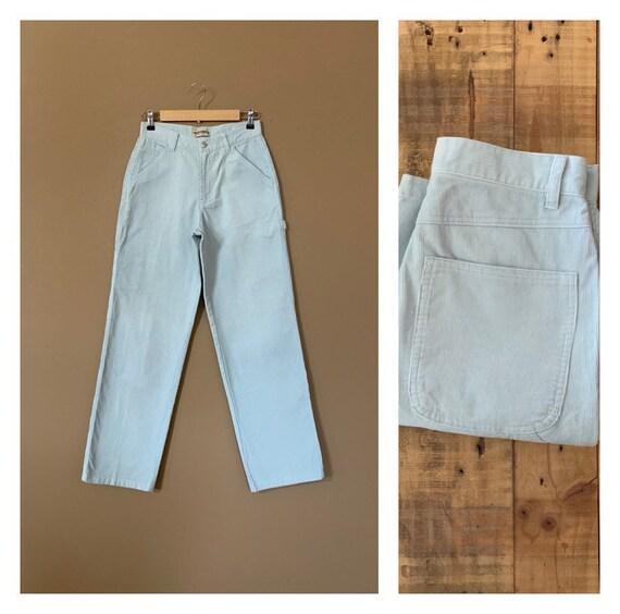 90's High Waisted Corduroy Pants Blue / Womens Cor