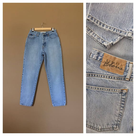 """28"""" High Waisted Button Fly Jeans Vintage Express"""