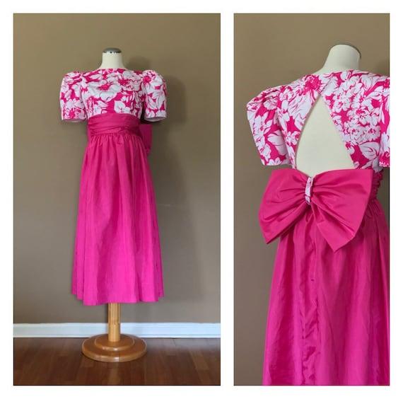 80s Prom Dress 90s Prom Dress / Pink Prom Dress /