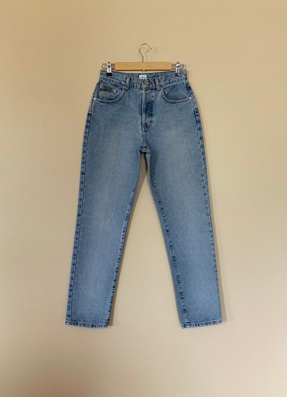 """28"""" Calvin Klein Jeans Button Fly High Waisted / … - image 2"""