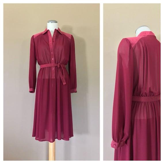 Vintage Sheer Dress/Sheer Maxi Dress/80s Dress She