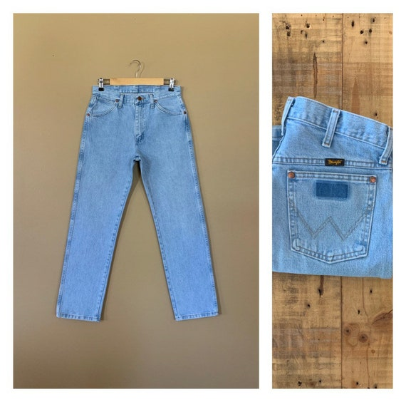 "30"" Wrangler High Waisted Jeans Light Wash / 90's"