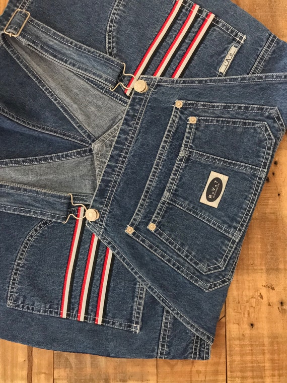 90s Denim Overall Shorts / Denim Overalls /90s Cl… - image 8