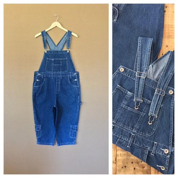 90s Denim Overalls Large/ Denim Overalls /90s Clot