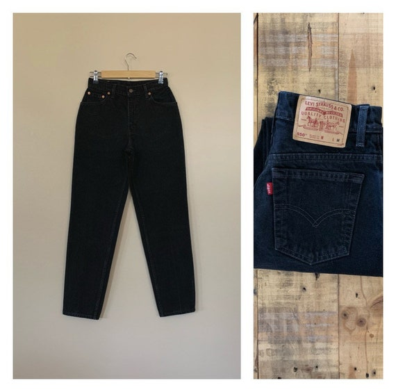 """27"""" Black Levis High Waisted Jeans / Levis 550 Hig"""