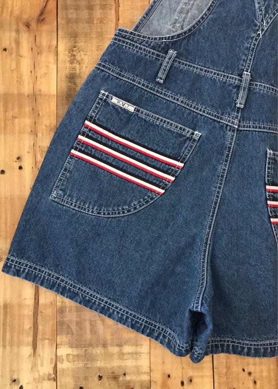 90s Denim Overall Shorts / Denim Overalls /90s Cl… - image 5
