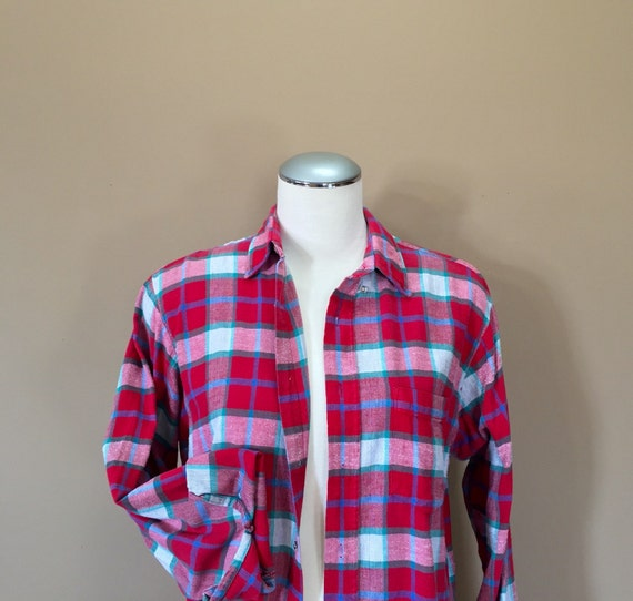 Flannel Shirt / Oversized Grunge Flannel / 90s Fl… - image 1